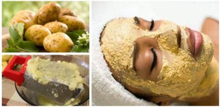 Картофельная маска от покраснений лица