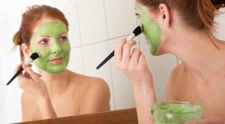 Маска с зеленью